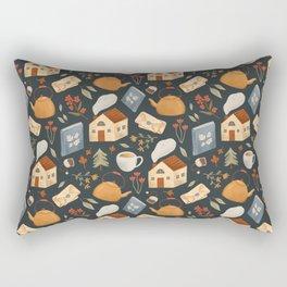 Cozy Cottage Pattern Rectangular Pillow