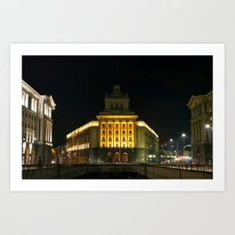 City Center of Sofia With Government and Business Buildings Art Print