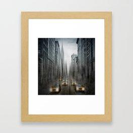 Graphic Art NYC 5th Avenue Traffic V Framed Art Print