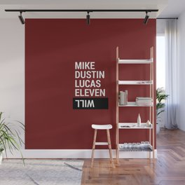 Mike, Dustin, Lucas, Eleven, Will Wall Mural