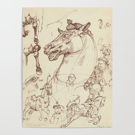 Leonardo Da Vinci, The Four Horses of Apollo Poster