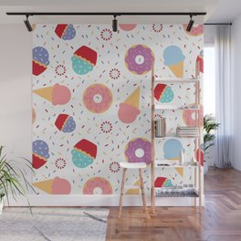 Donuts party Wall Mural