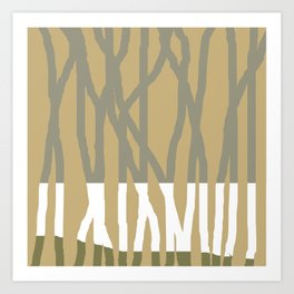 Forest of Gold Art Print