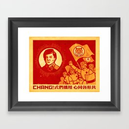 Obey Chang! Framed Art Print