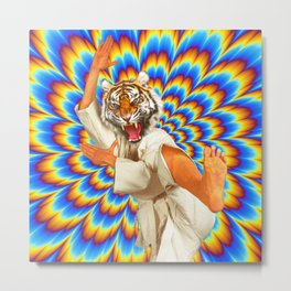 Fighting Tiger Metal Print