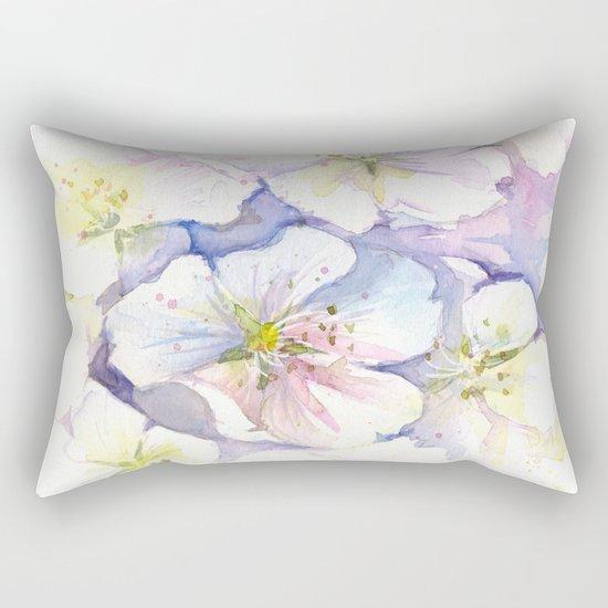 Cherry Blossoms Flowers Spring Floral Rectangular Pillow