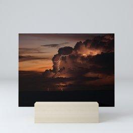 Florida Lightning Storm Mini Art Print