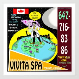 Vivita Spa, Toronto, Canada, Commercial Advert Artwork Art Print