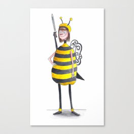 Miss Iona As A Bee Canvas Print