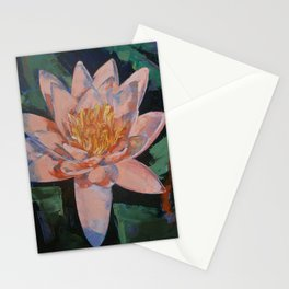 Pink Water Lily Stationery Cards