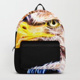 bald eagle 03 neon lines stardust Backpack