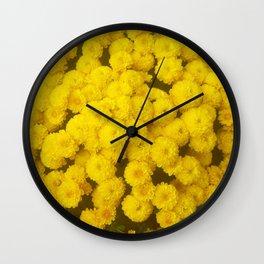 Autumn Gold - Chrysanthemums Wall Clock