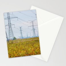 Landscape with power lines Stationery Cards