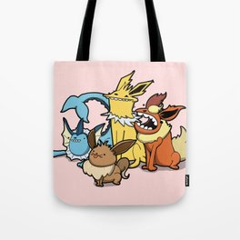 Pokémon - Number 133, 134, 135 and 136 Tote Bag