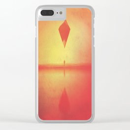 Forever Atlas (Amber Crescent) Clear iPhone Case