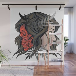 Two Face Wall Mural