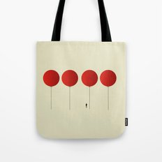 Red Balloons on Friday Tote Bag