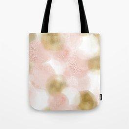 Rose Gold and Gold Blush Tote Bag