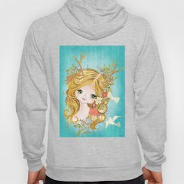 Lovely Lady Of The Woodlands Hoody