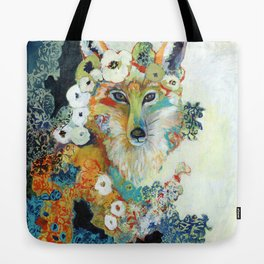 Fox in Pearls Tote Bag