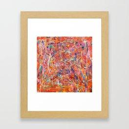 Orange Expression Framed Art Print