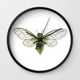 Green Cicada Wall Clock