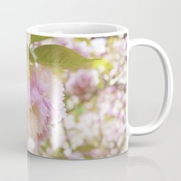 double cherry blossoms with soft hues of pink petals Coffee Mug