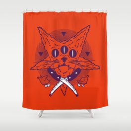 Hell Kitten Shower Curtain