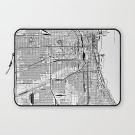 Chicago White Map Laptop Sleeve