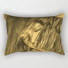 Biker Gold Rectangular Pillow