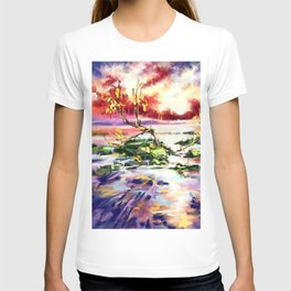 Evening at the beach T-shirt