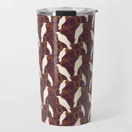 Kereru and magnolia - chocolate  Travel Mug