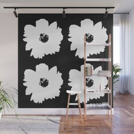 White Peony Bouquet Wall Mural