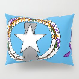 Northern Mariana Islands Flag with Map of Mariana Islands Pillow Sham
