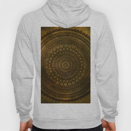 Lime Brown Mandala Hoody