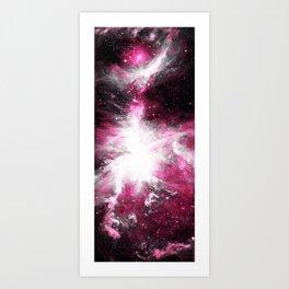 Orion Nebula Hot Pink & Gray Art Print