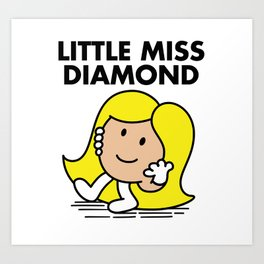 Little Miss Diamond Art Print