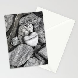 Stone Heart Stationery Cards