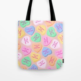 """""""It Be Like That Sometimes"""" Candy Hearts Valentine's Day Tote Bag"""
