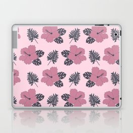 Hibiscus in Pink and Navy Laptop & iPad Skin
