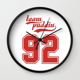 Team Puddin'! (RED) Wall Clock