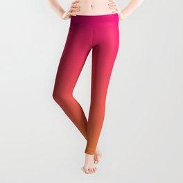 Ombre   Color Gradients   Gradient   Two Tone   Pink   Orange   Leggings
