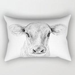 Moo ::  A Young Jersey Cow Rectangular Pillow