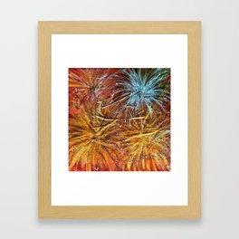 Metallic Fire Framed Art Print