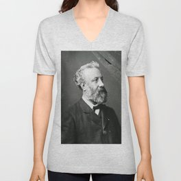 portrait of Jules Verne by Nadar Unisex V-Neck