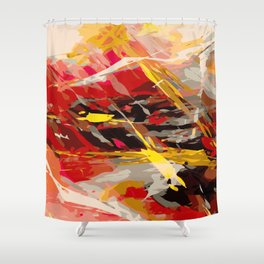 fire cage Shower Curtain