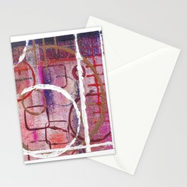 Lines, Circles And Squares, OH MY! 2 Bottom Square Stationery Cards