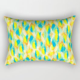 Neon Camouflage Rectangular Pillow