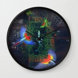 Flight Parrots by GEN Z Wall Clock