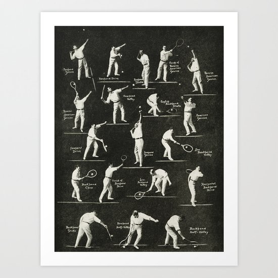 gentlemen prefer tennis Art Print